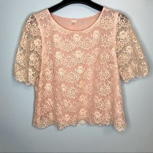I Love H81 Forever 21 Lace Crop Top L